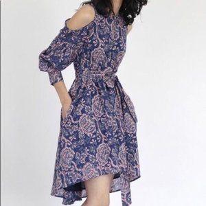 Banjanan Mira Cold Shoulder Dress Floral Sz Small